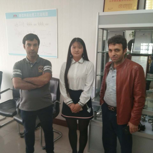 Our Clients from Iran Bought Aloe Vera Pulp Filling Machine